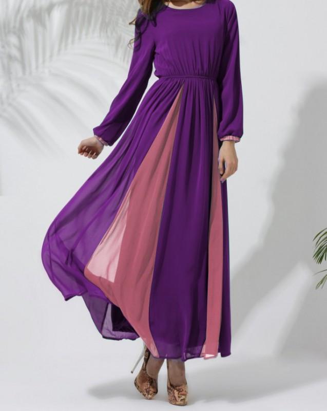 Chiffon Dress Purple