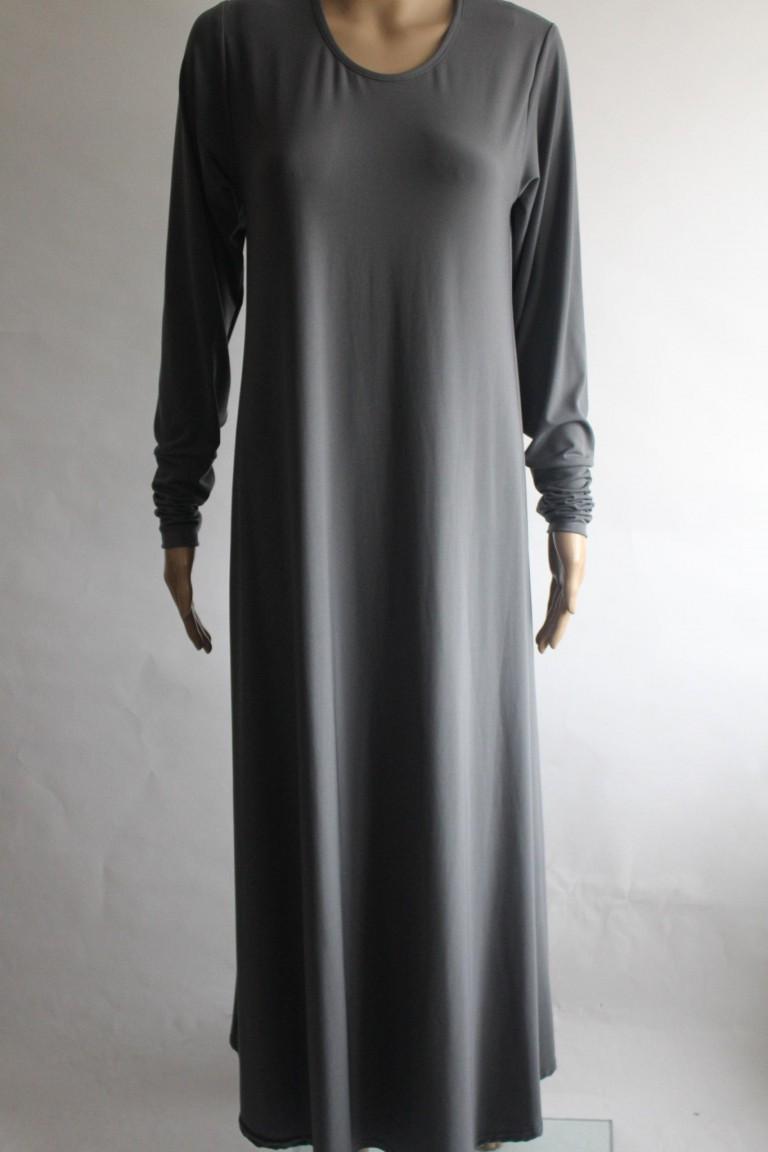 grey abaya