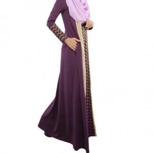 Evening Abaya Purple