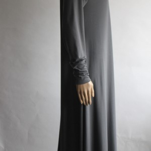 grey abaya dress