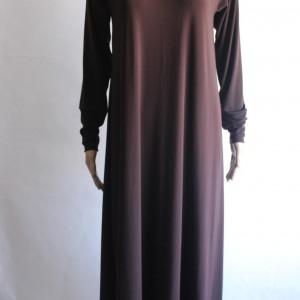 brown abaya dress